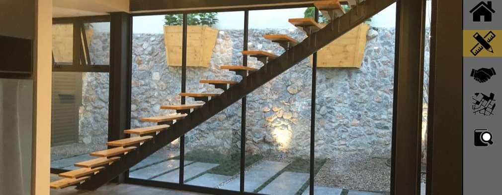 LOMAS DEL VERGEL/LG: Pasillos y recibidores de estilo  por ADC arquitectos