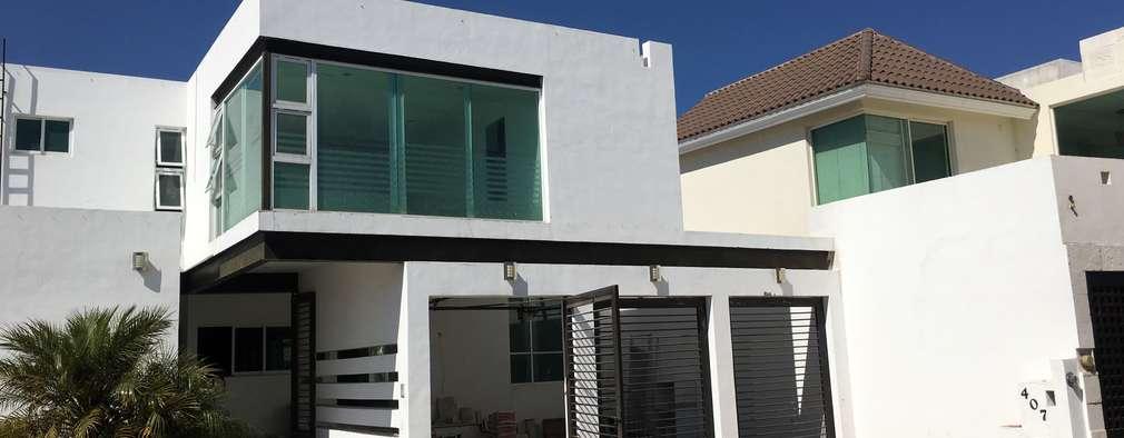 Casas de estilo  por HF Arquitectura