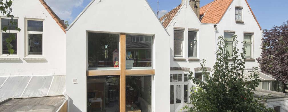 Uitgerekt Huis: moderne Huizen door Ruud Visser Architecten