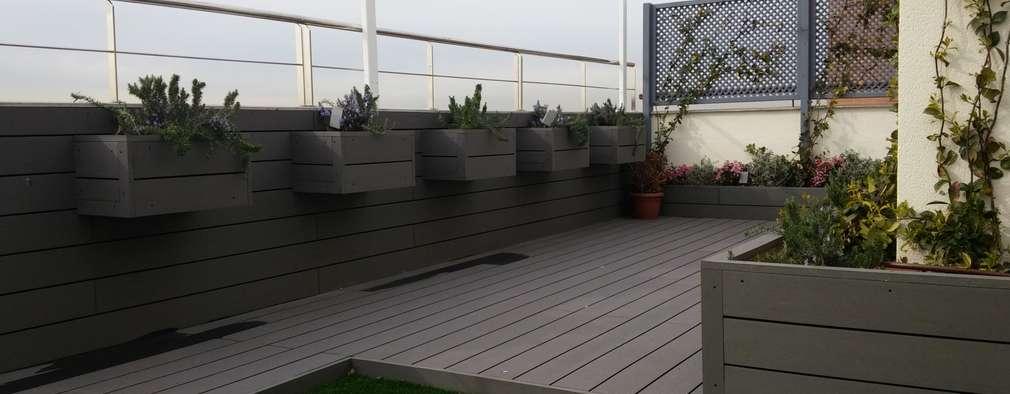 15 jardineras que se ver n ideales tanto patios grandes - Jardineras para terrazas ...