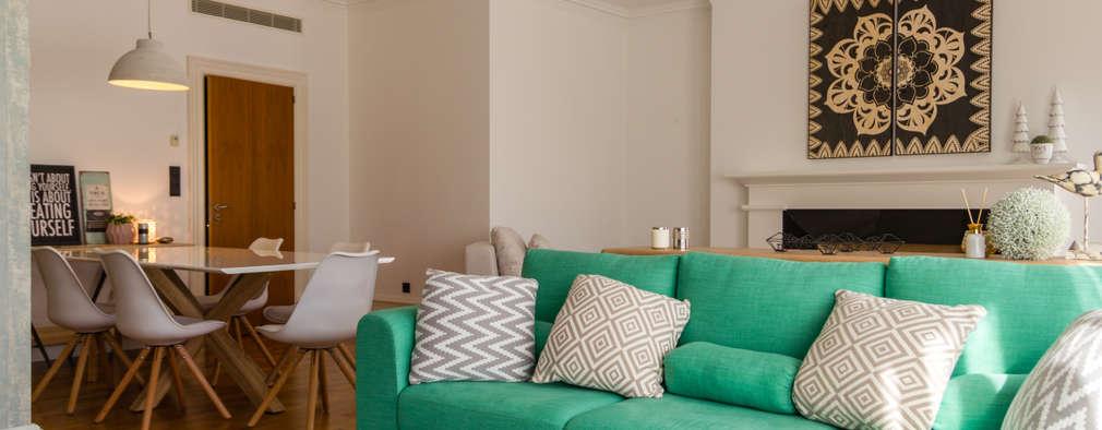 Projekty,  Salon zaprojektowane przez GF Designers de Interiores