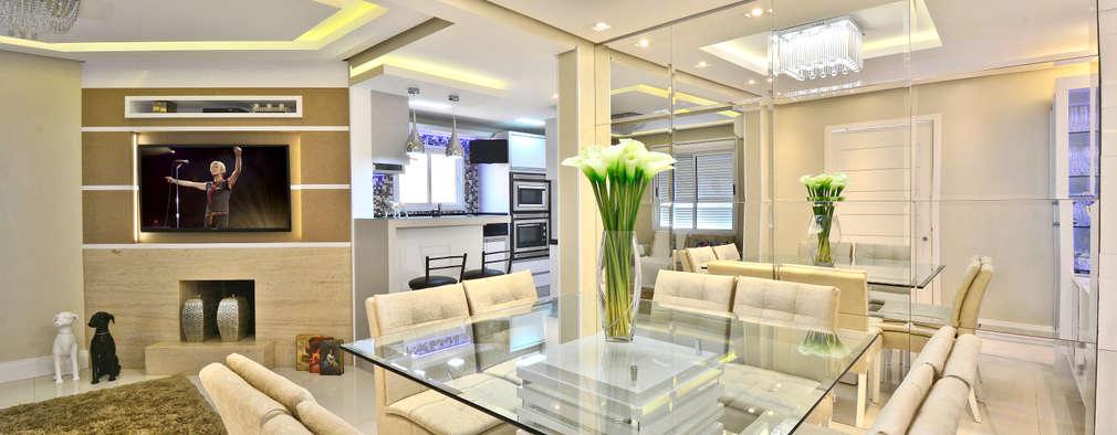 SALA DE JANTAR: Salas de jantar modernas por Graça Brenner Arquitetura e Interiores
