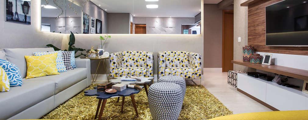 Sala de estar: Salas de estar modernas por Amanda Pinheiro Design de interiores