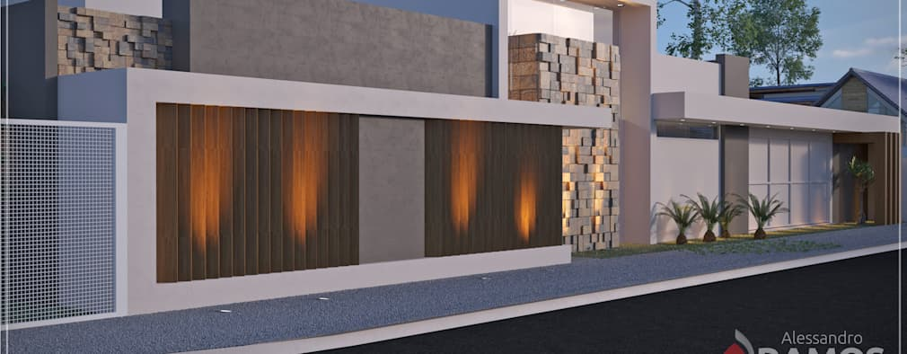 Casas de estilo moderno por Alessandro Ramos Arquitetura