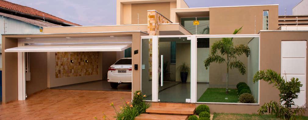 12 garagens maravilhosas para tornar a frente da casa especial for Frente casa moderna