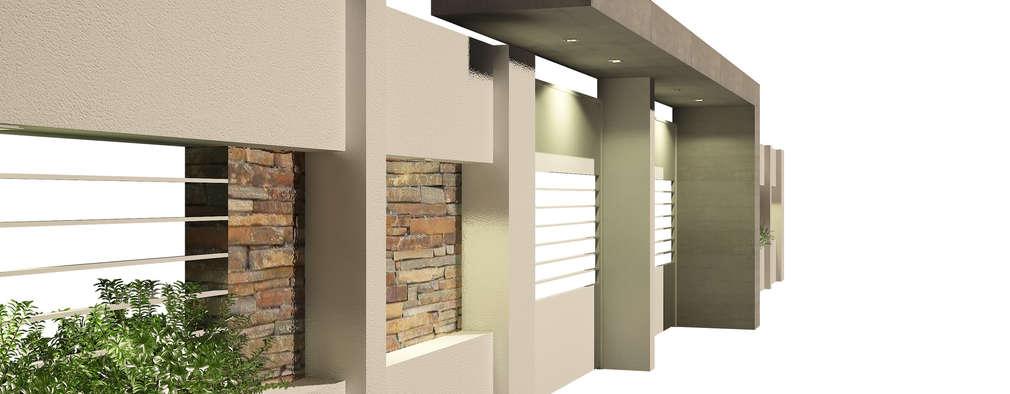 casas de estilo moderno por oficina arquitecturadiseo - Fachadas Modernas De Casas
