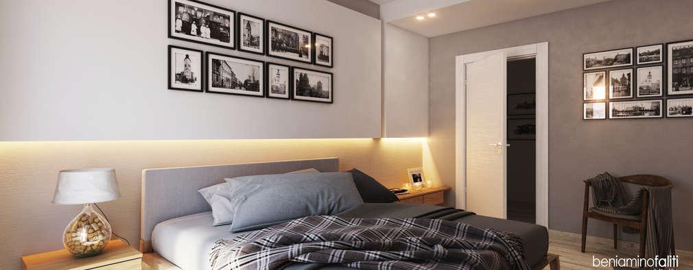 غرفة نوم تنفيذ Beniamino Faliti Architetto