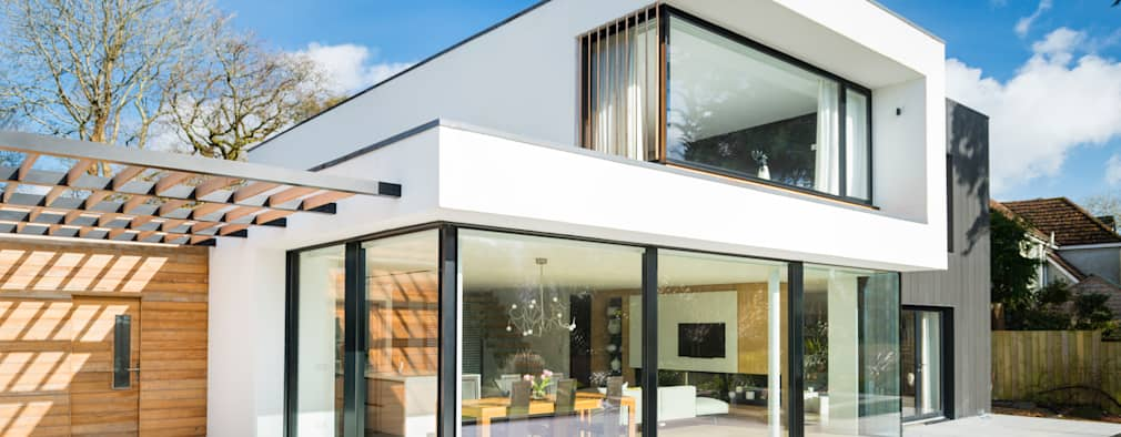 White Oaks Exterior: modern Houses by Barc Architects