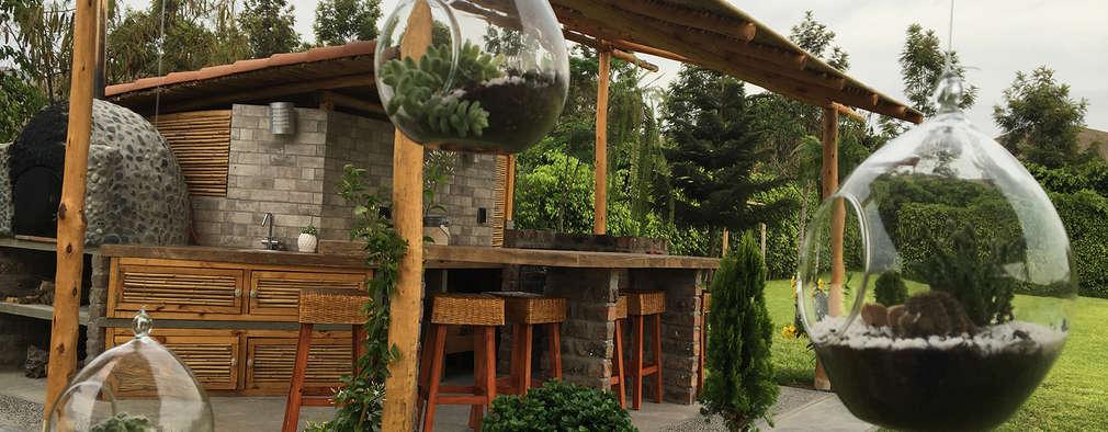 Una Casa De Campo Peruana Con Parrilla Y Horno De Barro