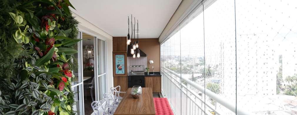 Terrazas  de estilo  por Angelica Hoffmann Arquitetura e Interiores