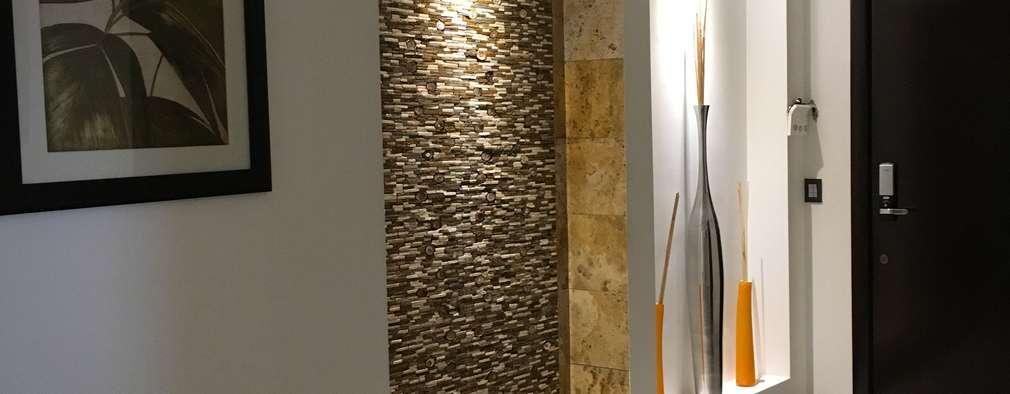 Acabados : Pasillos y recibidores de estilo  por Spazio3Design