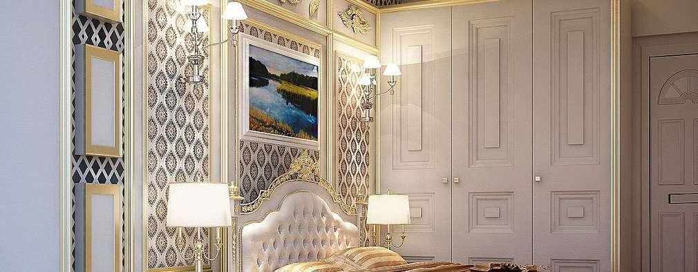 MASTER BEDROOM: colonial Bedroom by Fervor design