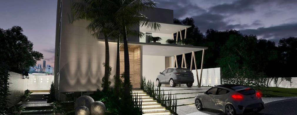 modern Houses by Larissa Vinagre Arquitetos