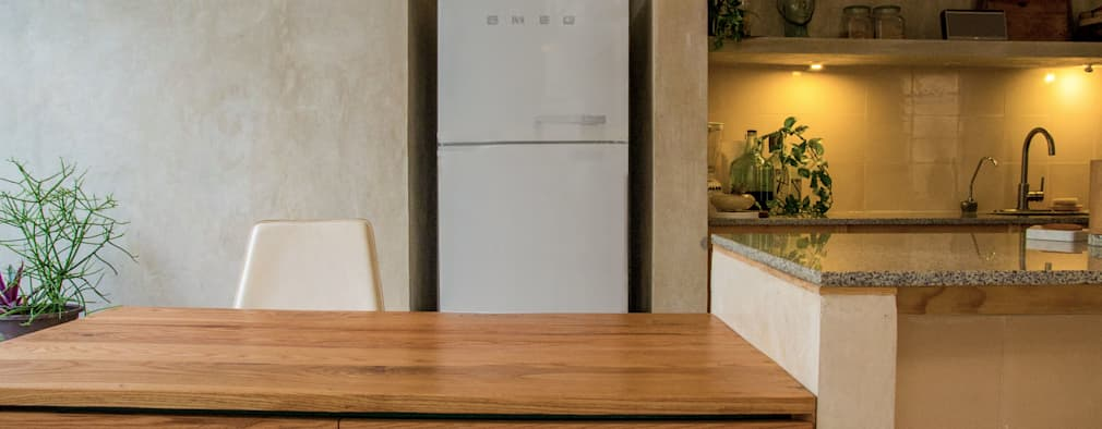 Cocinas de estilo moderno por Fundamental Arquitectura Habitable