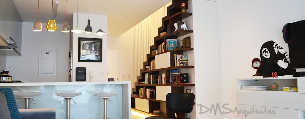 Departamento Barranco: Salas / recibidores de estilo moderno por DMS Arquitectas