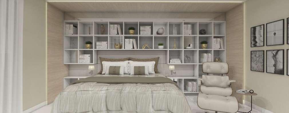 Projekty,  Sypialnia zaprojektowane przez Larissa Vinagre Arquitetos
