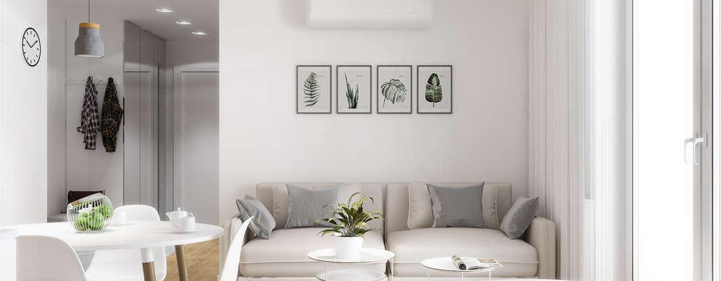 Phòng khách by PRØJEKTYW | Architektura Wnętrz & Design