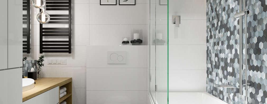 浴室 by PRØJEKTYW | Architektura Wnętrz & Design