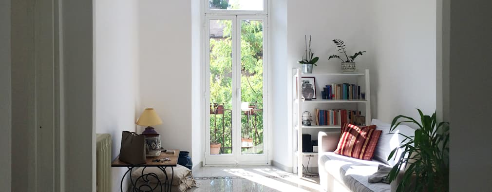 Piccolo appartamento che unisce moderno e vintage a roma for Accessoires de salon