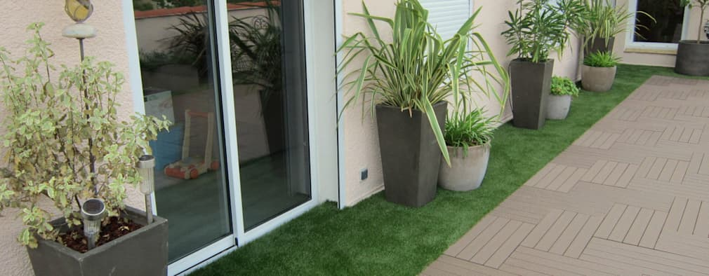 La r novation d 39 une terrasse en toiture montpellier for Amenagement jardin 80m2