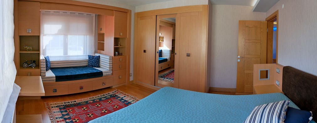 eclectic Bedroom by Attelia Tasarim