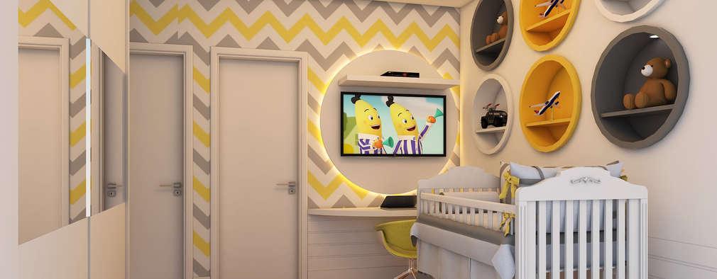 Quarto de bebê: Quarto infantil  por Caio Pelisson - Arquitetura e Design