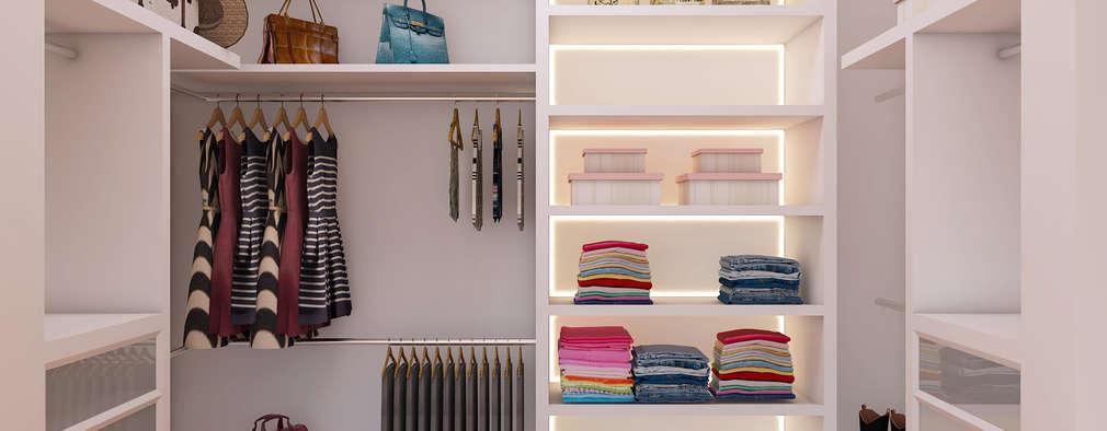 Projekty,  Garderoba zaprojektowane przez Caio Pelisson - Arquitetura e Design