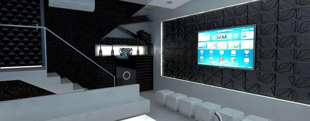 PROYECTO TERRAZA Y DISCOTECA LA PLANICIE - LIMA PERU: Salas de entretenimiento de estilo moderno por Vanguardist Design Studio