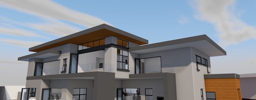 Northern garden perspective: modern Houses by Seven Stars Developments