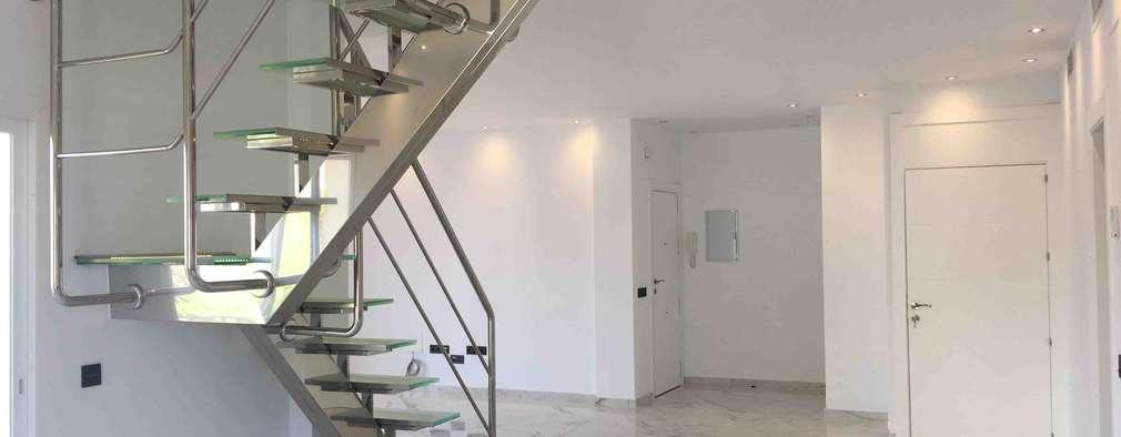 15 Escaleras De Vidrio Y Metal Perfectas Para Casas Modernas