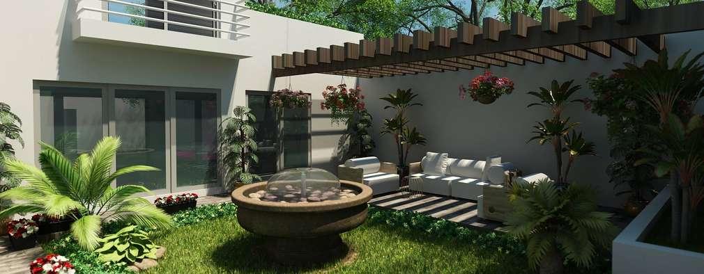 modern Garden by OLLIN ARQUITECTURA
