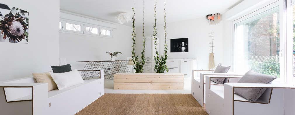 Projekty,  Salon zaprojektowane przez federica basalti home staging