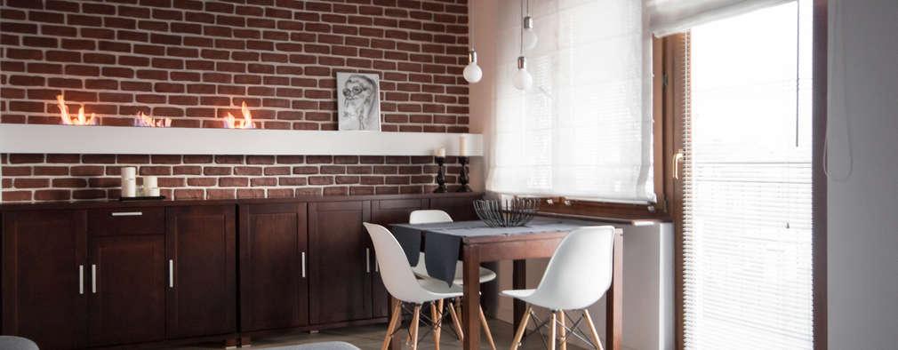 FLAT 2: styl , w kategorii Salon zaprojektowany przez Luxon Modern Design Łukasz Szadujko
