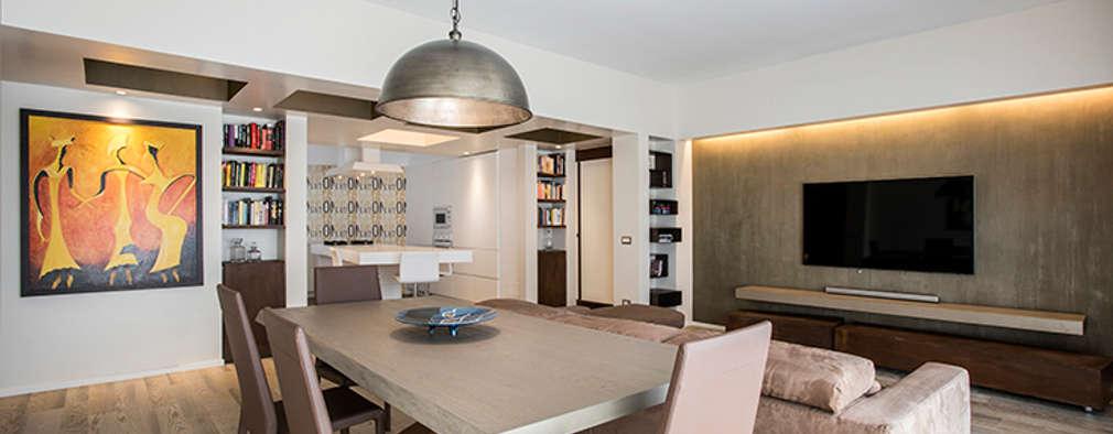 Un appartamento moderno e raffinato a roma for Progetto appartamento moderno