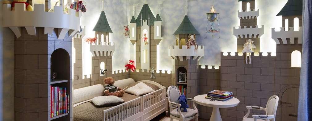 غرفة الاطفال تنفيذ Студия дизайна интерьера в Москве 'Юдин и Новиков'