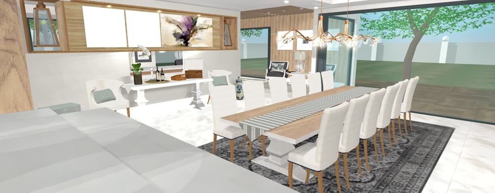 House N: modern Dining room by Kirsty Badenhorst Interiors