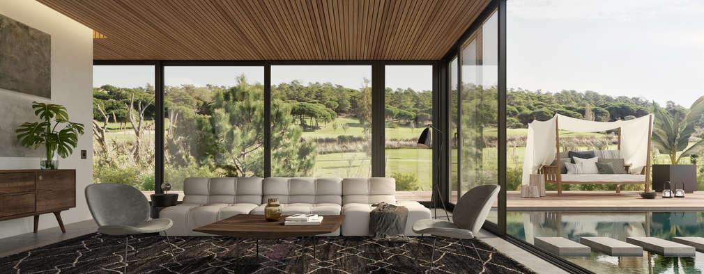 غرفة المعيشة تنفيذ Tendenza -  Interiors & Architecture Studio