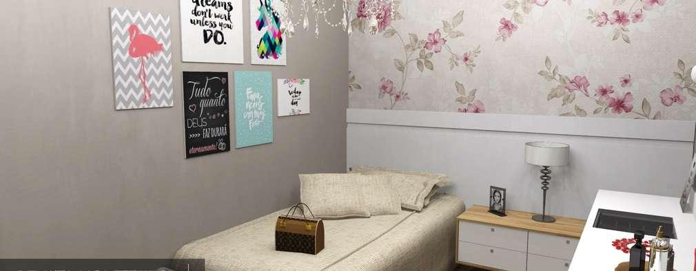 Phòng ngủ by Renata Monteiro Arquitetura e Interiores