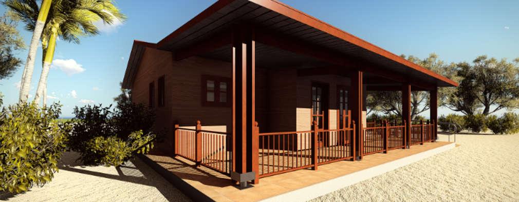 Casa prefabricada en madera con planos y todo - Casa de madera prefabricada ...