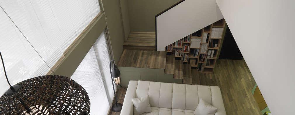 시원시원한 개방감이 매력적인 오픈천장 거실 인테리어 11