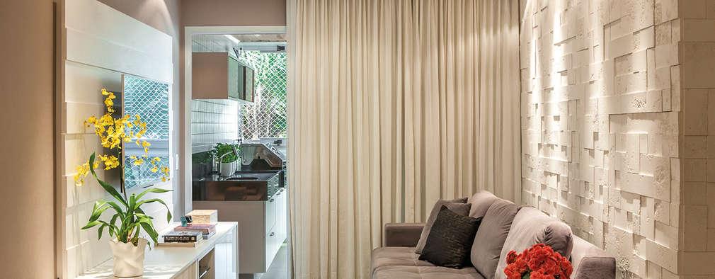 Salas de estilo moderno por Priscila Boldrini Design e Arquitetura