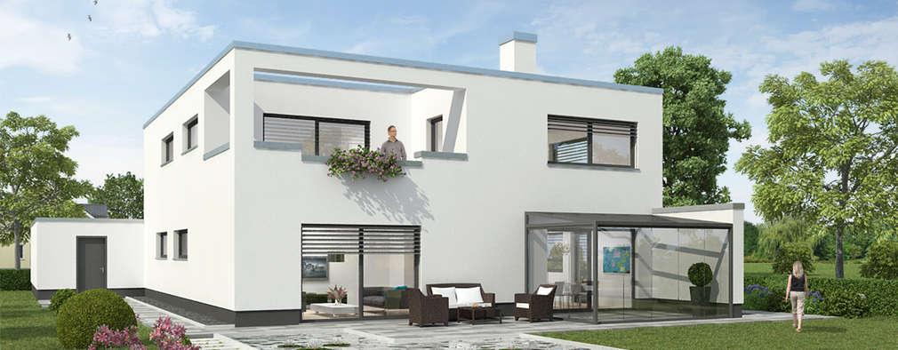 Bauhaus P3: moderner Garten von Carsten Krafft Die Architektur