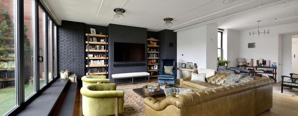 Renovation at 7 Wooster: modern Living room by KBR Design and Build