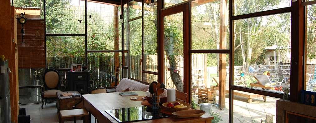 CASA VIVA: Comedores de estilo industrial por Guadalupe Larrain arquitecta