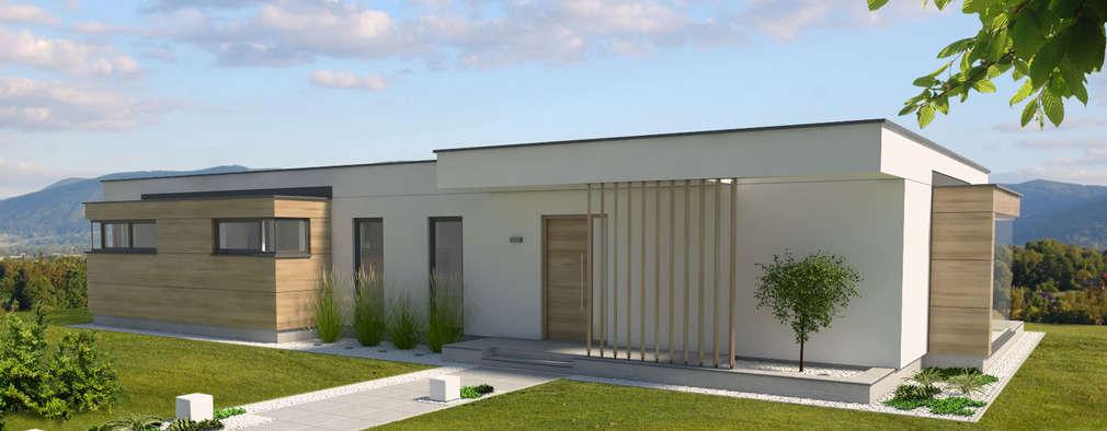 modern Houses by Pracownia Projektowa 8 Sekund Damian Wołoszyn