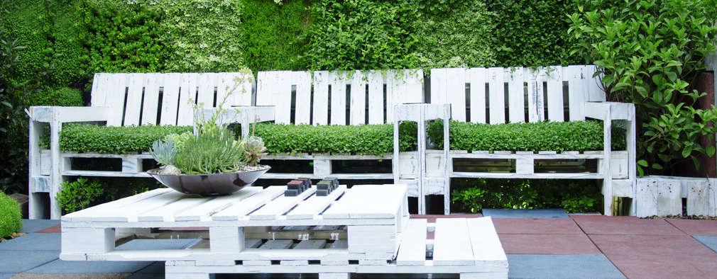 8 ideas inspiradoras para crear muebles de jardín con palets
