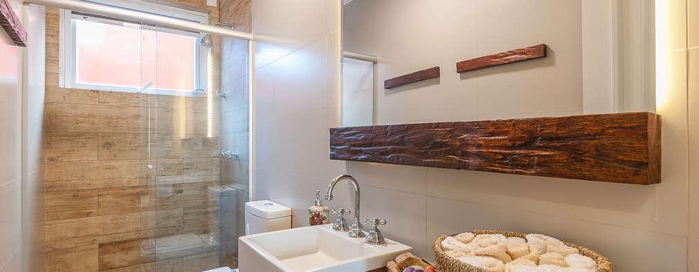 20 Fotos de muebles para baños perfectos para ti -> Decoracao De Banheiro Estilo Rustico