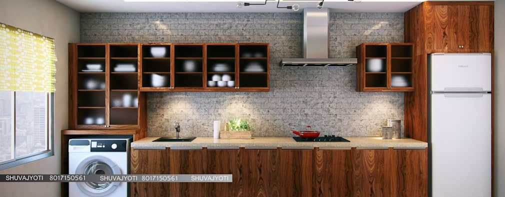 3D VISUALIZATION: Modern Kitchen By FREELANCE