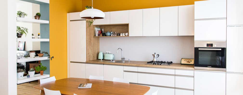 7 creatieve ideeën om de keuken en de woonkamer te scheiden