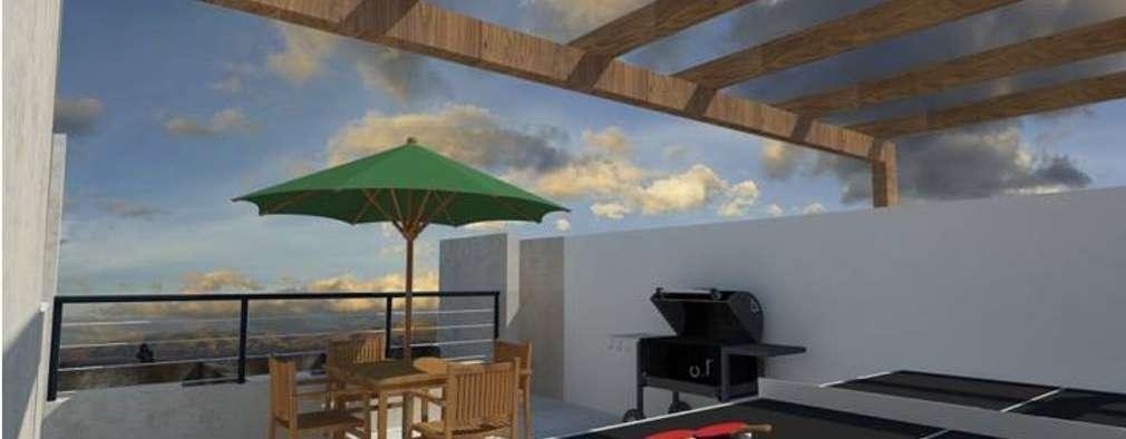 14 ejemplos de terrazas en la azotea para que te inspires for Terrazas 14 vicuna